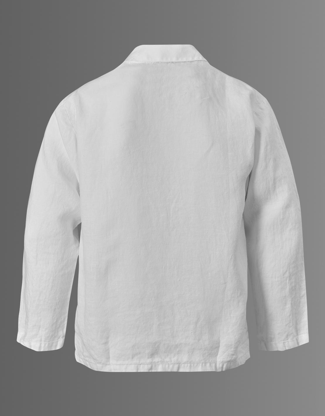 Linneskjorta ekologisk unisex white linen - Lin Living a65dfadbbbdc0